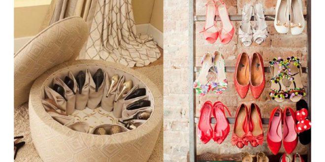 Αποθηκευτικές ιδέες για τα παπούτσια σας